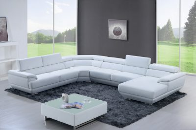 430 Sectional Pure White