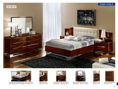 Matrix Composition 8 w/White Headboard, Made in Italy