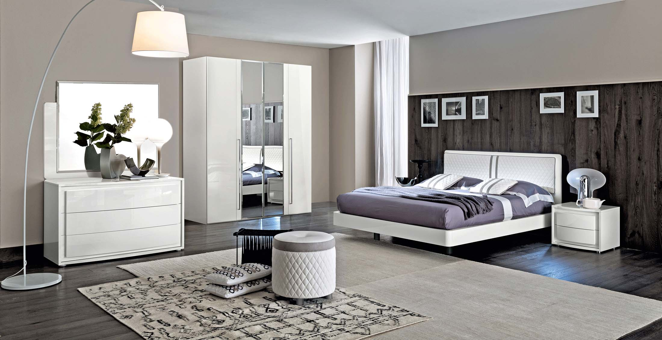 Bedroom Furniture Modern Bedrooms QS and KS Dama Bianca Bedroom by CamelGroup Italy
