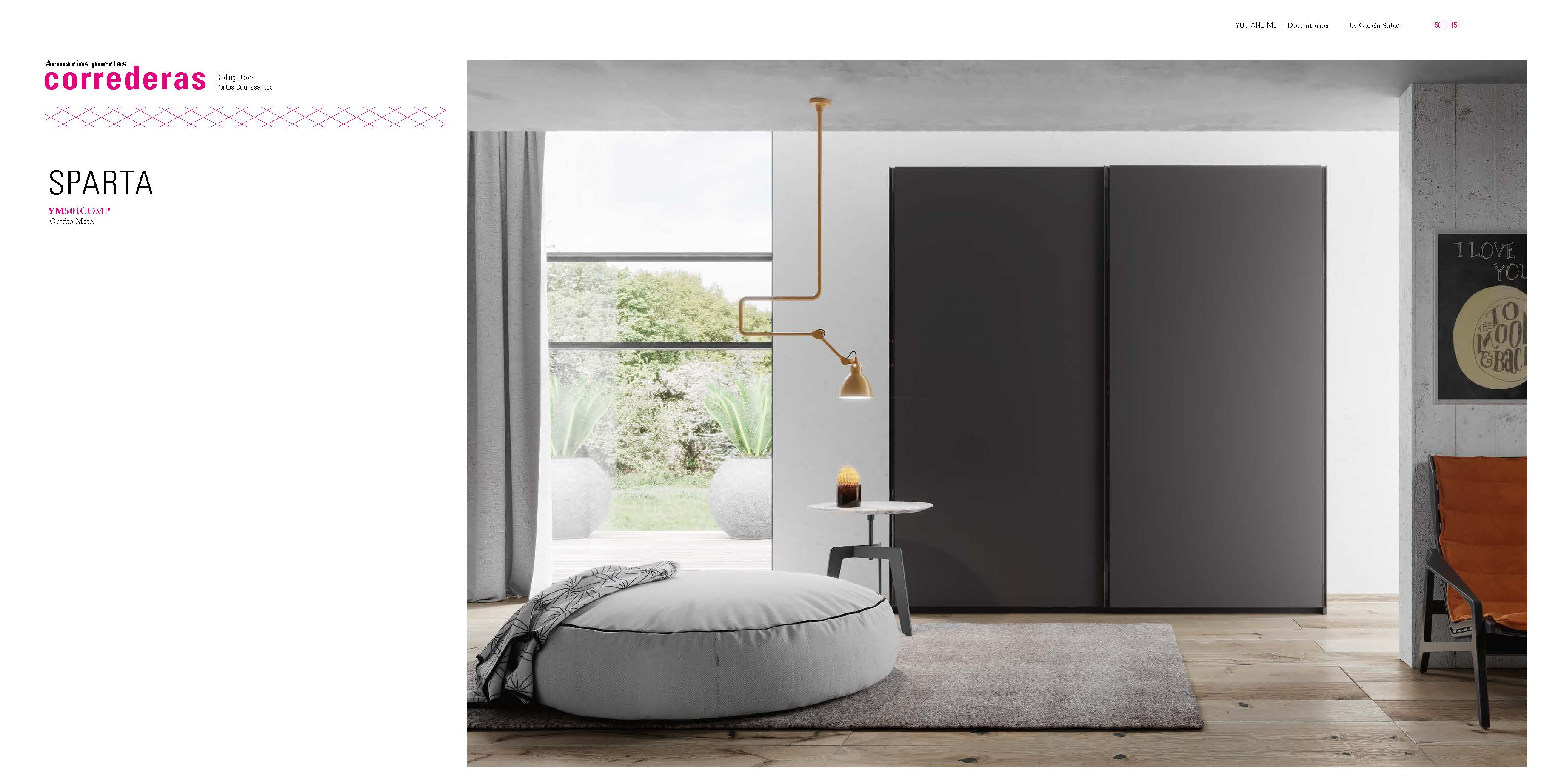 Ym501 Sliding Doors Wardrobe Beds Bedroom Furniture